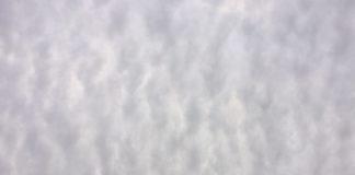 通り雨直前の空を見上げる